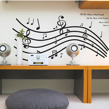 Music Theme Wall Stickers Musical Notation Music Symbol Decorative Living Room Paste TV Stickers Dance Room Wall Decals