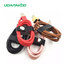 Buy 1m Leather woven Micro usb samsung galaxy S7 S6 a5 a3 j5 j7 2016,8pin usb iphone 6 6s 7 plus 5 5s,2a quick charger cable for $2.95 in AliExpress store