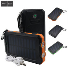 Hoco Solar Power Bank Outdoor Sun Powerbank Charger Dual USB Mobile Charger Waterproof  External Battery Mobile Phone Power Bank
