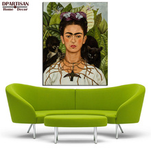 DPARTISAN New self portrait with necklace of thorns 1940 By Naive Art print Wall oil Painting picture print on canvas No frame(China)