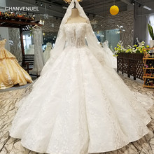 LS32142 curve shape skirt wedding gown with long veil off shoulder long sleeve  sweetheart floor length bride wedding dresses 3901433ca717