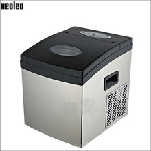 Xeoleo Commercial Mini Ice maker 15kg/24h Ice make machine Home use 1kg storage Cube Ice machine for Bubble tea shop/Coffee/Bar