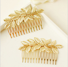 New Arrival Designer Gold Leaf Bridal Hair Combs Plastic Quality Accessories For Women Girls Wedding Bijoux Hair Jewelry