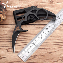 KKWOLF Karambit knife Sharp 7CR17 steel black Counter Strike Fighting tactical knife camping survival hunting knife pocke tools