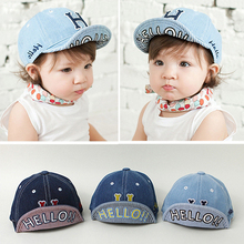 Spring kids summer hat baby autumn cowboy 3D H letter boy cap adjustable baseball cap kids hip-hop sun hat beach hats(China)