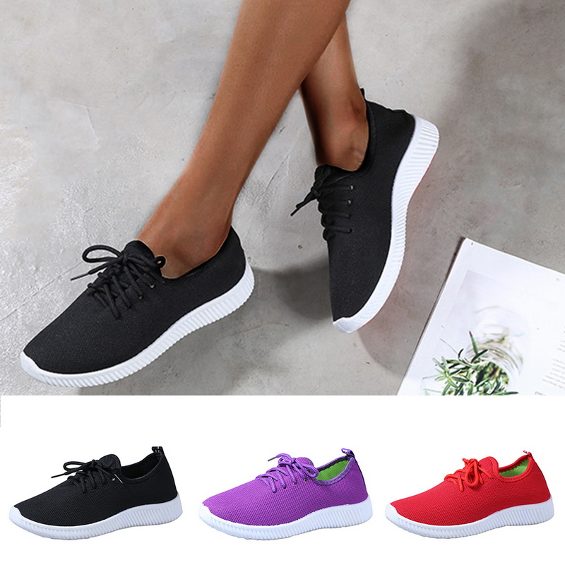 Womens Breathable Canvas mesh Sneakers Lightweight Womens Shoes Casual