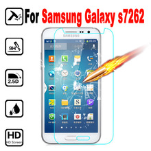 S7260 Premium Tempered Glass For Samsung Galaxy Star Pro S7260 S7262 7260 7262 GT-S7262 Screen Protector Film cover case