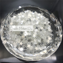 50g (5000pcs 4mm Lovely Star Crystle Color PVC loose Sequins Paillettes for Nail Art manicure/sewing/wedding decoration confetti