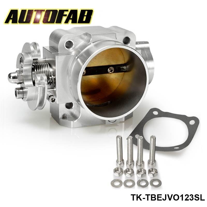 AUTOFAB - 70mm Racing Billet Throttle Body For Mitsubishi Lancer EVO 1 2 3 4G63 Intake Manifold Sliver AF-TBEJVO123SL