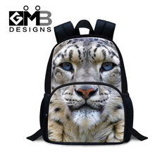 Dispalang children's gifts cool leopard print backpack for boys 12 inch mochila infantiles kids felt backpacks primary schoolbag