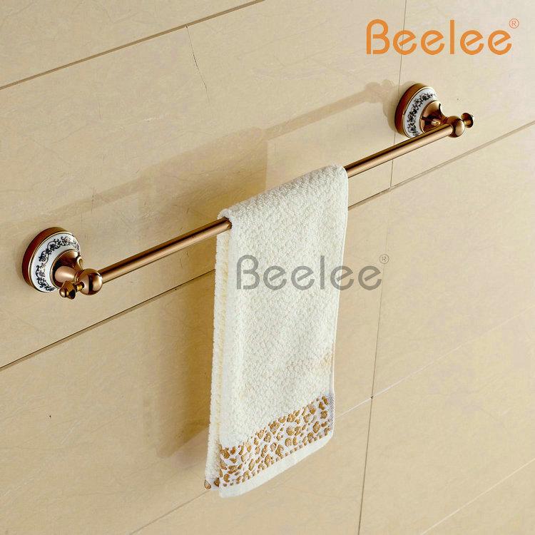 Beelee BA7901R 22 Inch Towel Bar Wall Mounted Bathroom Towel Bars Ceramic Brass Towel Bar,Rose Golden Finished<br><br>Aliexpress