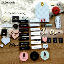 ZLDECOR Foil Gold Moments 3D Die Cut Self-adhesive Stickers for Scrapbooking Happy Planner/Card Making/Journaling Project