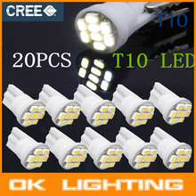 10PCS New Ultra Bright White 8SMD LED Car 3020 T10 W5W Wedge Side Car Light Bulb Lamp automobiles Car -Styling
