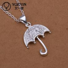 Hot marketing silver jewelry umbrella necklaces pendants chain necklace jewelry for girlfriend