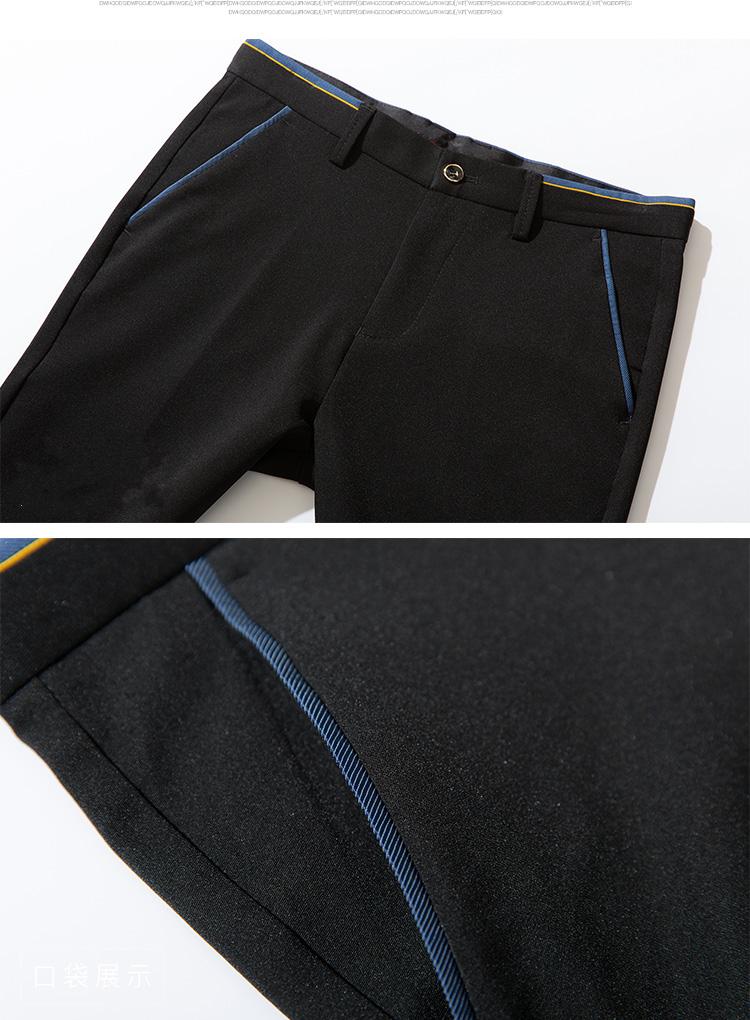 2018 Pring Summer Brand Clothing Men Casual Pants Business Slim Fit Elastic Ankle-length Pants Men's Skinny Pants Men Trousers 16