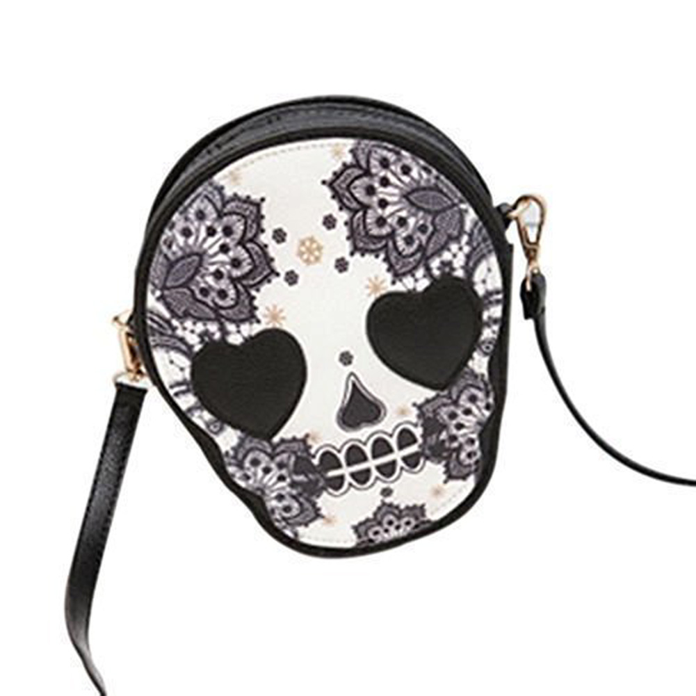 5pcs( ASDS Woman Mini Personalized Messenger Handbag Cute Skull Head Crossbody/Shoulder Bag<br><br>Aliexpress