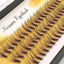 Beauty Girls New False Eyelashes 0.07 C 20D Wave Individual Eyelash Extension of Mink Black Soft Women False Eye Lashes