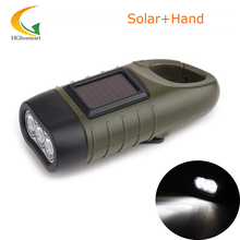 solar flashlight Dynamo LED powerful flashlight 3 LED rechargeable torch led camping lantern portable led lamp torch