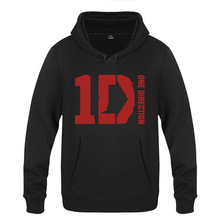 Rock Band One Direction Hoodie Cotton Winter Teenages One Direction 1D Logo Sweatershirt Pullover With Hood(China)