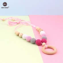 Let's make Baby Fashion Nursing Jewelry Necklace Food Grade Crochet Beads DIY Teething Accessories Baby Nursing Fashion Necklace(China)