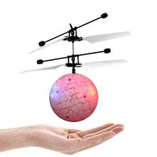 RC Flying Ball Drone Helicopter Ball Built-in Shinning LED Lighting For Kids Toy Y914