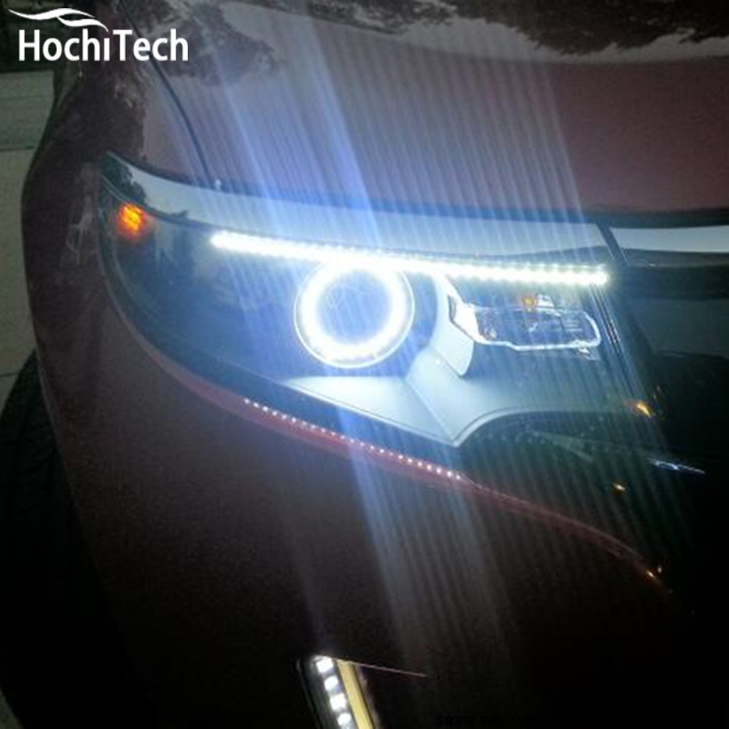 for Ford Edge 2011 2012 LED perimeter headlight rings halo Multi-color RGB angel demon eyes<br>