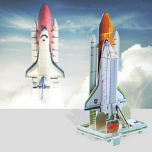 1Set 3D Paper Model Puzzle Building Kits Ship Space Shuttle Aircraft Jigsaw Educational Kids Toys Fun Game Gifts for Children(China)