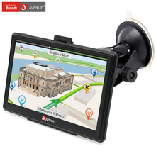 Junsun 7 inch HD Car GPS Navigation Capacitive screen FM 8GB 256M DDR Vehicle Truck GPS Europe Sat nav Lifetime Map