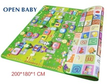 Thickness 1 CM Best Quality Double Side Baby Play Mat Fruit Letters And Zillionaire Child Gym Carpet Kids Crawling Rug Mat Toys(China)