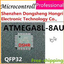 microcontroll atmega8l-8au atmega8 atmega8l QFP32 5PCS new original Atmel sample data inside electronic components