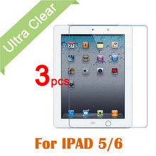 3pcs/lot For iPad Air 1 2 Clear HD Glossy LCD Screen Protector For Apple iPad 5 6 Tablet PC Transparent Protective Film +cloth
