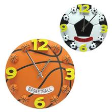 Creative football basketball sitting room the bedroom wall clock fashion modern clocks decoration clock mute wall clock Gift  35