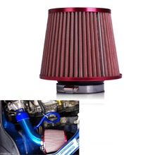 "More Jump Forward - Air Filter Auto Vehicle Car Cold Air Intake Filter Cleaner 3"" 76mm Dual Funnel Adapter For Turbo Racing(China)"