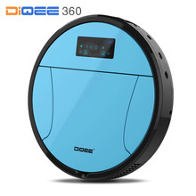 DIQEE A3 2017 Robot Vacuum Cleaner for Home Automatic charging Sweeping Dust Sterilize Gyro navigation Planned Water mop(China)