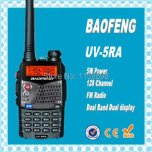 DHL freeshippin+2014 new baofeng uv5r version uv-5ra handheld walkie-talkie double band double display radio scanner uv 5ra