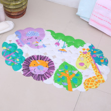 Cartoon Anti-Slip PVC Bath Mat With Suction Cups Animal World Carpet Used for Bathroom Safety Non-slip Floor Rug Floor mat
