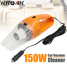 Mini Portable 150W 12V Car Handheld Cyclonic Auto Car Vehicle Vacuum Cleaner Rechargeable Wet And Dry Duster(China)
