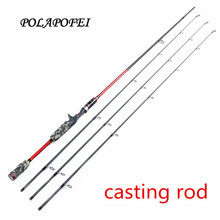 POLAPOFEI 2.1m 3 Tips Carbon Fishing Rod Spinning Rod Casting Rods Fishing Tackle Baitcasting Pole Carp Olta Pesca Pehce E265