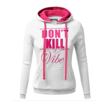 2017 Autumn Winter hooded sweatshirts women fleece hoodies funny DON'T Kill letters hip hop hoodies woman pullovers tracksuits