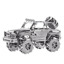 Estartek Piececool P078-S Science Education Toys 3D Alloy Metal Assembly Model Military Jeep for Children Birthday Holiday Gift