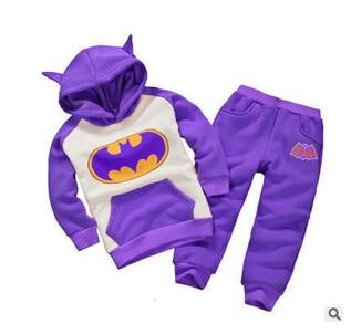 2017 Free shipping winter childrens clothing suits batman kids hoodies + pants children sports suit boys clothes set retail<br><br>Aliexpress