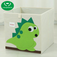 3D Embroider Cartoon Animal Folding Large Storage Box for kids Toys Sorting organizer boxes clothes book cosmetics storage case