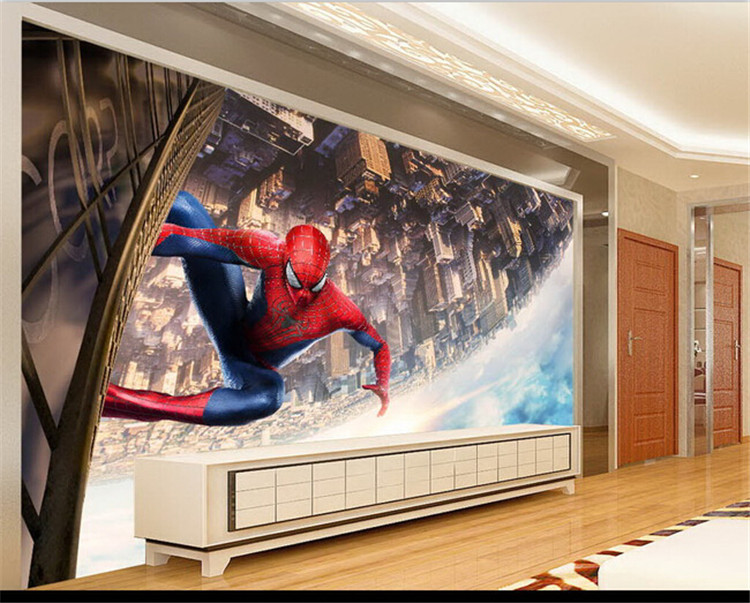 HTB1gAc4q1uSBuNjSsziq6zq8pXag - Large Spideman Cartoon Murals 3d Wallpaper for Child Room