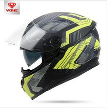 YOHE Full face Double lens Motorcycle helmets Winter keep warm Unisex Motorbike helmet Electrice safety helmets YH-967