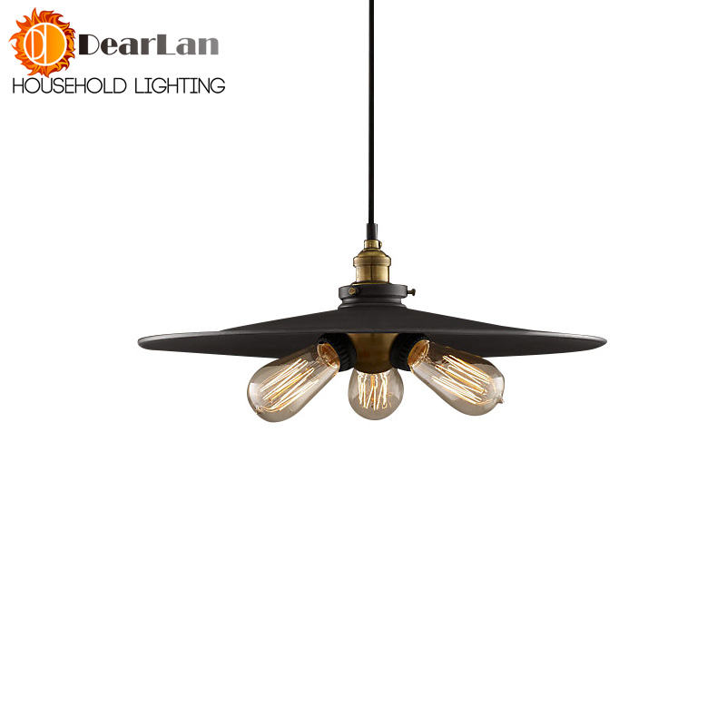 Diameter22CM/26CM/36CM,American Industrial Vintage Pendant Light Cafe Creative Metal Drop light Bar Lighting Clothing Store Lamp<br>