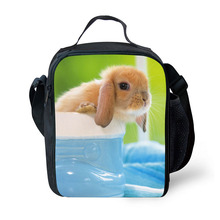 Brand Lunch Lunch Pack Meng Pet Animals Print Lunch Box Portable Freezer Picnic Food Bag Lunch Bag Fresh Bag
