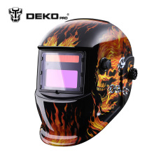 DEKOPRO Skull Solar auto darkening MIG MMA electric welding mask/helmet/welder cap/welding lens for welding machine(China)