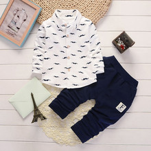 Fashion Design Toddler Infant Baby Boys Letter Clothes Set Tops+Pants Outfits Long Sleeve Clothing Sets Child Set #ES(China)