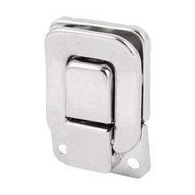 Tool Box Chest Suitcase 40mm Long Metal Clasp Latch Silver Tone 5pcs(China)