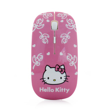 Wireless Mouse Ultra Thin Hello Kitty Optical Mause Computer 2.4GHz 1600DPI Gaming Mice